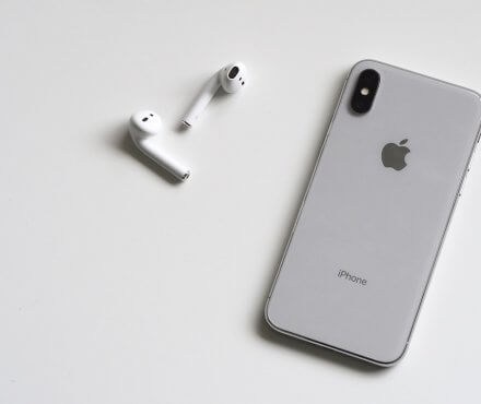 iPhone X with Air Pods