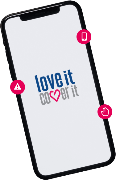 iPhone X insurance - loveit coverit